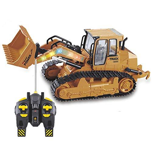 CMXUHUI El Juguete Favorito del bebé, Gran Regalo para los 2.4GHz Electric RC Truck Bulldozer Ingeniería Vehículos Modelo Control Remoto Coche Juguete para Niños Regalos con Música y LED
