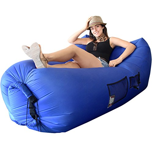 WooHoo 3.0 Giant Outdoor Inflatable Lounger with Carry Bag – Air Lounger – Air Couch – Patent Pending - Easy to INFLATE New Technology