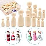 MEEQIAO 50 Piezas, Muñecas de Madera, 35mm/43mm/55mm/65mm Muñeca de Madera Peg Dolls, para Pintar DIY Manualidad Decoración (50)