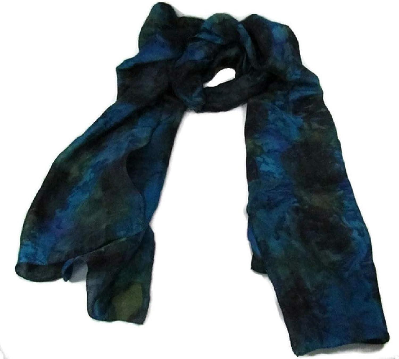 100% Pure Hand Woven Indian Silk Scarf Women's Fashion Eco Friendly Fair Trade
