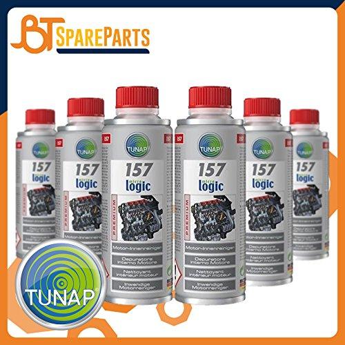 Tunap 157 Micro Logic Premium - Pulitore Interno Motore pulizia del circuito di lubrificazione - 200mL x 6 pezzi