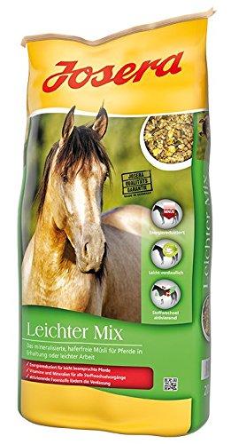 JOSERA Leichter Mix, Premium Pferdefutter mit energiereduzierter Rezeptur, haferfrei, Müsli für Pferde in leichter Arbeit oder Erhaltung, 1er Pack (1 x 20 kg)