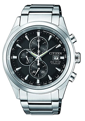CITIZEN Herren Chronograph Solar Uhr mit Titan Armband CA0650-82F