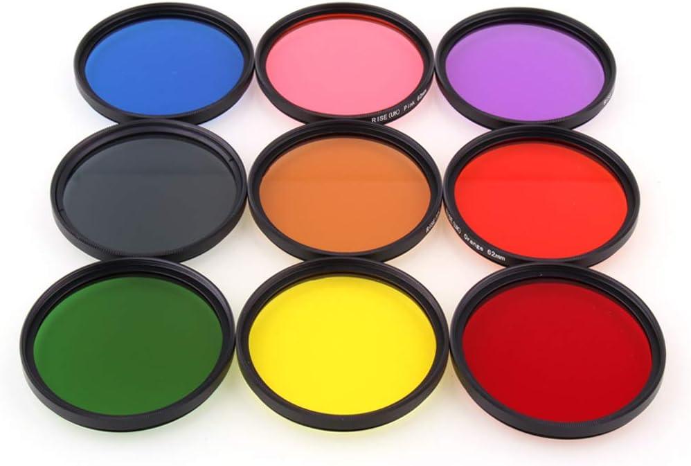 UK 18pcs Adjustable Gradual and Full Color Circular Filter+Filter Bags+Lens Hood+Clean Cloth+Lens Cap+Filter Brush RISE
