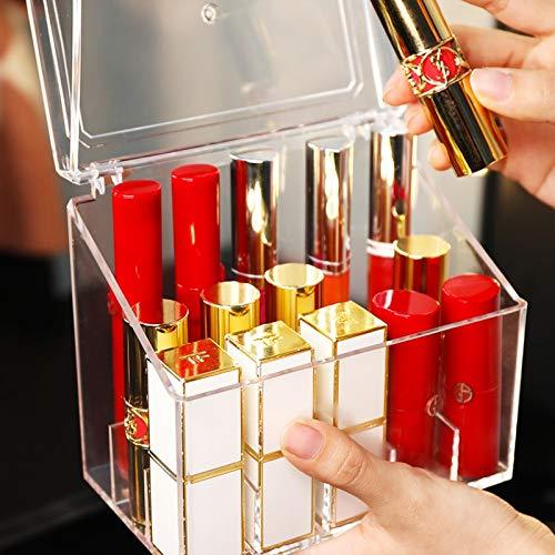 PS Makeup Schöne Organizer Box transparente Lippenstifthalter mit Abdeckung Nagellack Aufbewahrungsbox Hautpflege Schöne Organizer Box Make-up Kosmetik Schöne Organizer Box