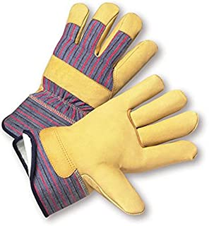 West Chester 5555/2XL Premium Grain Pigskin Positherm Lined Leather Palm Gloves, 2XL, Tan (Pack of 12)