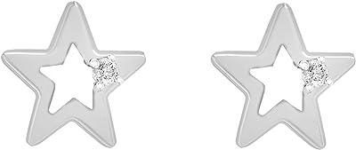 Tuscany Silver Orecchini a Lobo da Donna in Argento Sterling 925, con Zirconio Cubico