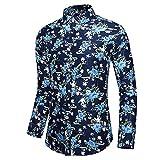 Hombre imprimió Camisas Hawaianas de Manga Corta Botón Casual Abajo Camisetas de Manga Larga Camisas de algodón de la Playa Delgada Camisa de la impresión del Modelo de la moda-C125_4XL