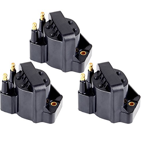 ECCPP 3 Pcs Ignition Coils Pack Compatible with Buick/Cadillac/Chevy/GMC/Isuzu/Oldsmobile/Pontiac 1986-2009 Replacement for C1316 D545 for Travel, Transportation and Repair