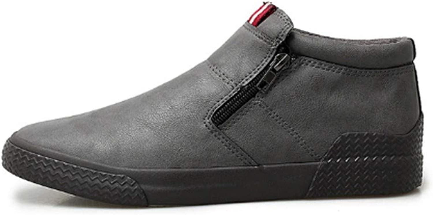 FMWLST Boots Men'S Boots Men'S Ankle Boots High-Top Belt Breathable PU Boots Men'S Casual shoes