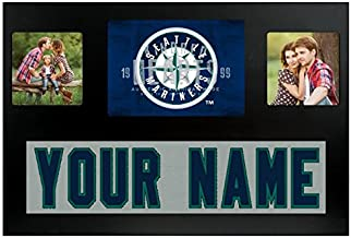 Seattle Mariners MLB Custom Jersey Nameplate and Logo Picture Frame
