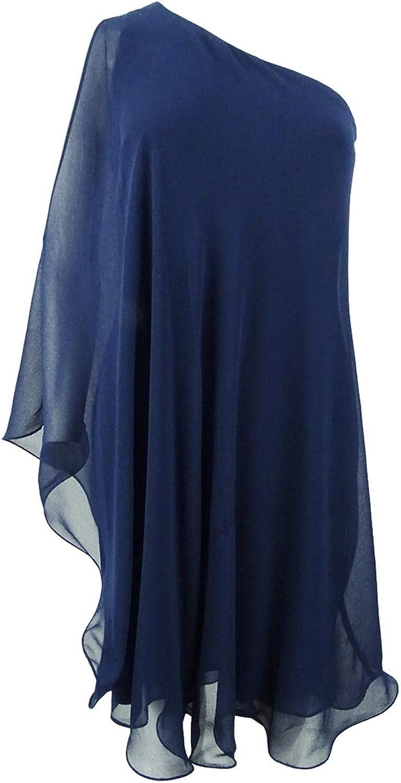 Lauren Ralph Lauren Womens Londie One Shoulder Mini Cocktail Dress