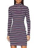 Tommy Hilfiger Tjw Rib Stripe Dress Vestido, Twilight Navy/Multi, S para Mujer