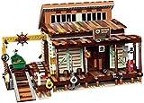 YZHM Viejo de la Nave de Pesca de reparación Tienda Modualr casa, Edificio Modular Compatible con Lego 21310-2027 PC