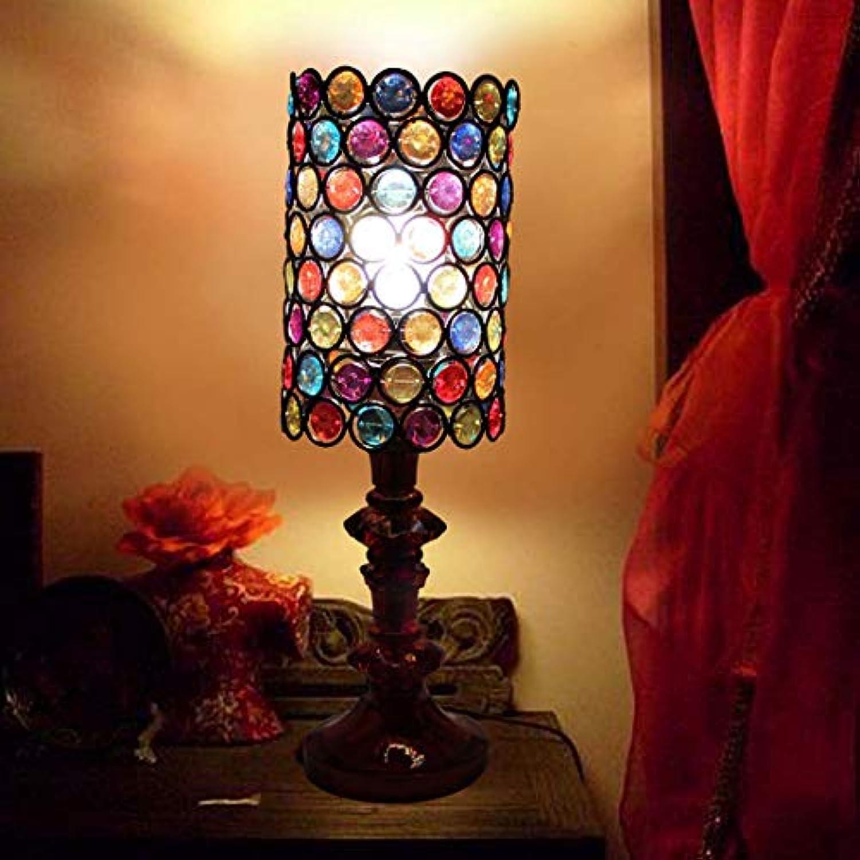 European-Style Tischlampe American Perlen Tischlampe Schlafzimmer Wohnzimmer Kinderzimmer Nachttischlampe XIAOXIAO (Design   Dimmschalter)
