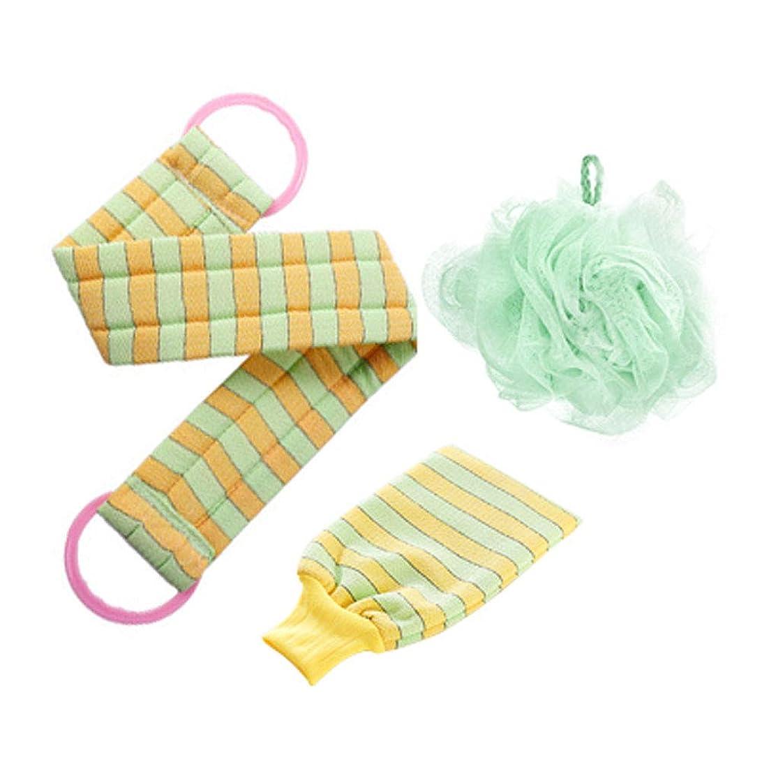 不格好ブラシバルブ入浴タオル、強い濁度除染、入浴手袋、3点セット(A3)