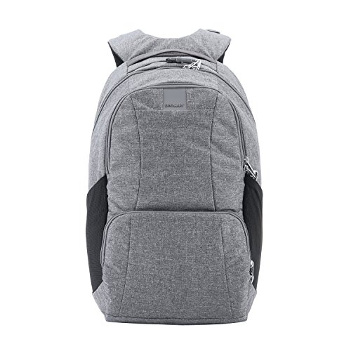 Pacsafe Metrosafe Ls450 25 Liter Anti Theft Laptop Backpack - with Padded 15' Laptop Sleeve, Adjustable Shoulder Straps, Patented Security Technology (Dark Tweed Grey)