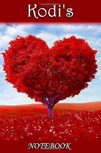 Kodi's Notebook: Kodi Personalised Name Notebook - Love Heart Tree