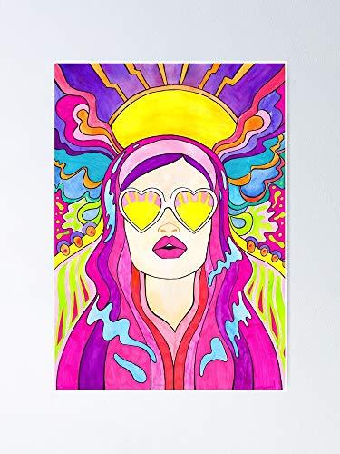 AZSTEEL Póster de Sun Burst 11.7 x 16.5