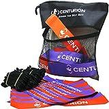 CENTURION Kids 'Etiqueta Rugby cinturón Set, Negro/Morado/Naranja, Talla única