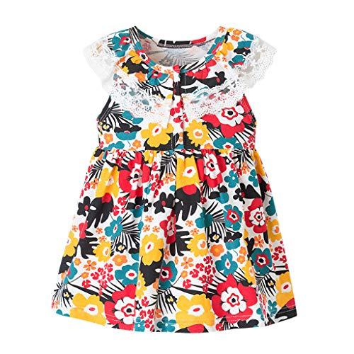 Cover Kleider für Mädchen Ärmelloses Kleid Spitzen Rüschen Ausschnitt Kleider Freizeitkleid Sommerkleid