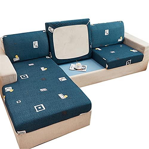 NOPEXTO Sofa Sitzkissenbezug,Elastischer Kissenbezüge Mit Gummiband,Husse Überzug Bezug Für Sofa Sitzkissen,Stretch Sitzkissenschutz (XX-Chaise Set,Geometrie)