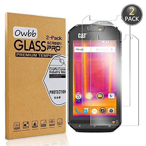 Owbb [2 Stück] Gehärtetes Glas Display schutzfolie Für CAT S60 Smartphone Schutz 99% High Transparent Explosionsgeschützter Film