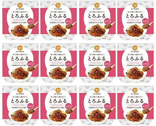 無添加寒天ゼリー とろふるあずき 110g×12個セット★ 宅配便 ★<o-4132>原材料:有機きび糖(有機さとうきび(ブラジル))、有機小豆、寒天、本葛粉、アセロラ果汁、食塩