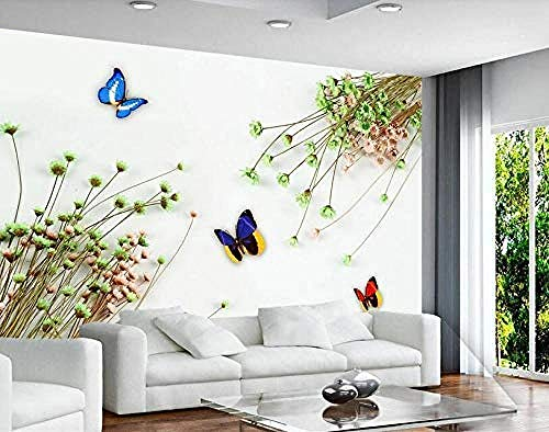 Stereoskopische Tapeten-kleiner Blumenstrauß-kühle Fernsehwand gemalter HintergrundTapete 3d wandbild tapeten vintage Moderne Papier-430cm×300cm