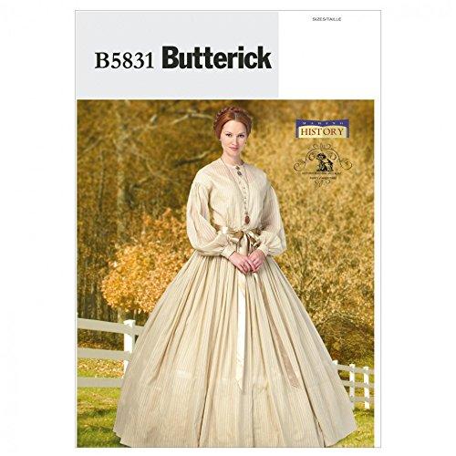 Butterick Schnittmuster 5831–historischen Kleid & Petticoat