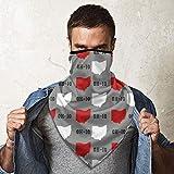 WH-CLA Cuello Bufanda para Hombre Mujer,Estado De Ohio Gris Estados Unidos América Cuello Pañuelo Durable Sombreros Protección UV Polainas De Cuello Sin Costura Bufanda para Yoga Partido Motocicleta
