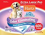 Hartz Home Protection Lavender Scent Odor Eliminating Gel Dog Pads, 30' x 21', 60 Count