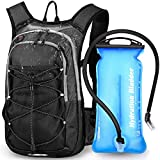 EMDMAK Hydration Pack Backpack with 2L Water Bladder for Outdoor Hiking Running Cycling Camping Climbing