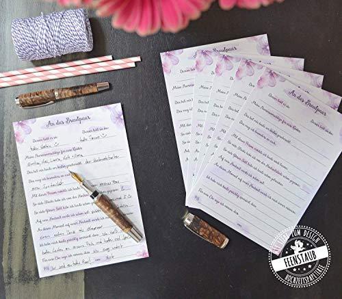 Gästebuch Alternative Hochzeit 30 Karten mit Fragen an Hochzeitsgäste zum Ausfüllen & einkleben