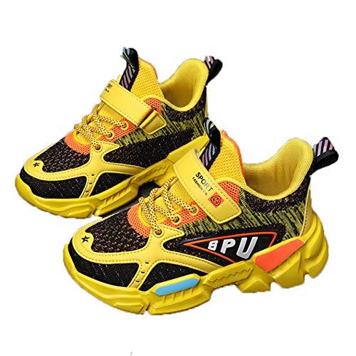 Zapatos para Correr para niños Zapatillas de Deporte de Malla con Plataforma Transpirable y Parte Superior Baja para niños Zapatos Deportivos Casuales Antideslizantes Resistentes al Desgaste