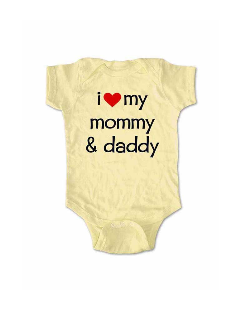 Cute baby clothes baby gift ideas I love hugs adorable mommy daddy teddy bear baby bodysuit one piece romper