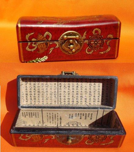 AAF Nommel®, Holz- Kunstleder Box, Nr. 070, Geschenkekiste, Schmuckkiste, ca. 17 x 7,3 x 6,8 cm