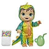 Baby Alive Dino Cuties Doll, Stegosaurus, Doll Accessories, Drinks, Wets, Stegosaurus Dinosaur Toy for Kids Ages 3 Years and Up, Brown Hair