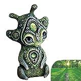 Rain Creature fatte a Mano da Statue del Mondo fantastico, Creature mitologiche fantastiche che vivono nello spazio esterno Sulla Terra, Statue Decorative da giardino in Resina (A)