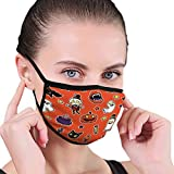B10893 Lowrider Skull Motor Emblem Halftone Reusable Face Mask Balaclava Washable Outdoor Nose Mouth Cover for Men and Women