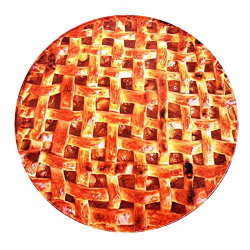 JWWLLT Burrito Manta Linda Manta Manta Mantas Suaves Mantas Fuzzy Manta Diversión y Cómoda Franela Pizza Pizza Wrap Wrap Wrap Burger Round Decoration Regalo (Color : D, Size : 150)