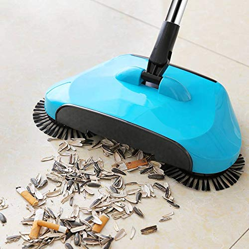 PANTH Automatic Floor Sweeper Rotating Indoor Push Sweeping Vacuum Cleaners Broom Machine Without Electricity (Multicolour, 30 x 24 x 19 cm)