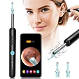 Ear Wax Removal, Enjoyee Ear Cleaner Ear Wax Removal Kit, Wireless Ear Wax Remover Otoscope with 1080P HD Endoscope Ear Camera Ear Wax Removal Tool for iPhone, iPad & Android Smart Phones Black