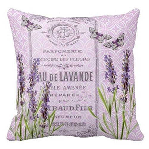 Damuyas Kissenbezug, Lavendelblumen, französisches Parfüm, Dekoration, baumwolle, lavendel, Size: 42*42cm/16.53*16.53