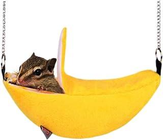 ふく福 バナナ型 ゆらゆらペット小動物用 ハムスター ハンモックブランコうさぎ モルモット ハムスター ハウス暖かい寝床 防寒 小動物の部屋 可愛い ペットベッド あったかハウス