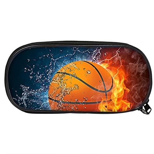 Bolsa de lápices de baloncesto 3D unisex - Baby-lápiz creativo - Estuche creativo para lápices creativos - Estuche de almacenamiento de gran capacidad - Usati, A01., 21.5 X 10 X 5.5cm,