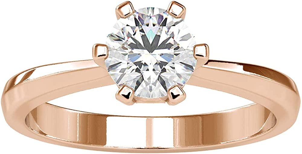 1Ct Certified Moissanite Solitaire Ring Unique Engagement New Orleans Mall Weddi Finally resale start