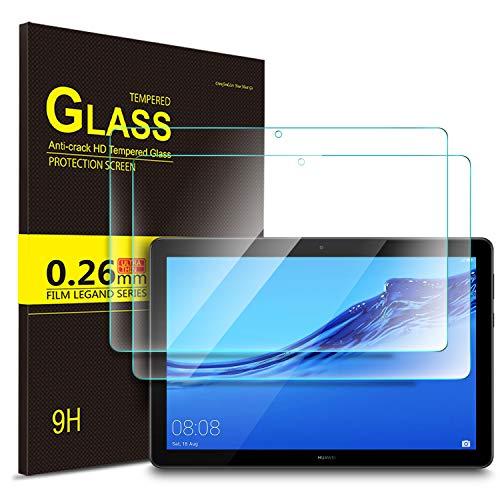IVSO Displayschutz für Huawei MediaPad T5 10, 9H Härte, 2.5D, Displayfolie Schutzglas Displayschutz Für Huawei MediaPad T5 10 10.1 Zoll 2018 Modell, (2 x)