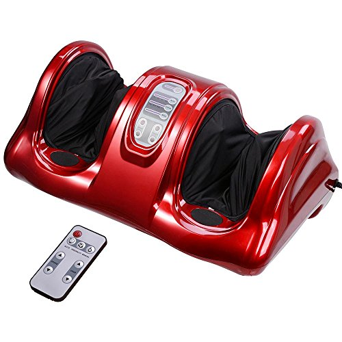 AW Shiatsu Foot Massager Kneading and Rolling Leg Calf Ankle with Remote Control Personal...