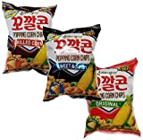 LOTTE 3D Popping Corn Jumbo - Original/Grilled Corn/Sweet & Spicy (72g/Pack) (3 Combo, Set of 1)